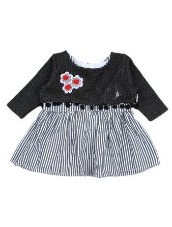 Set rochita cu bolerou model bleumarin inchis