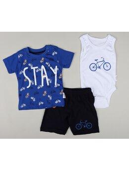 Set STAY bike 3 piese model albastru