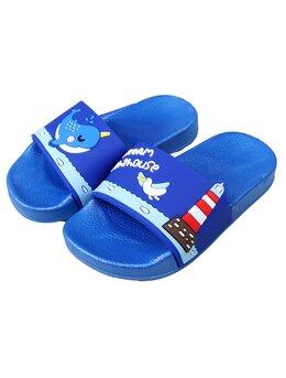 Slapi marin model albastru