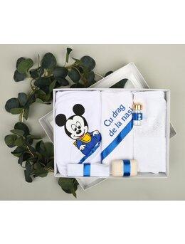 Trusou botez 6 piese Mickey albastru 1