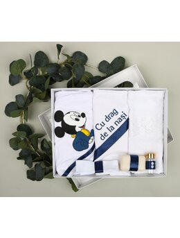 Trusou botez 6 piese Mickey bleumarin 1