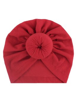 Turban elastic catifelat rosu