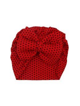 Turban rosu cu inimi mici model 77