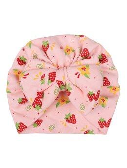 Turban roz cu capsuni