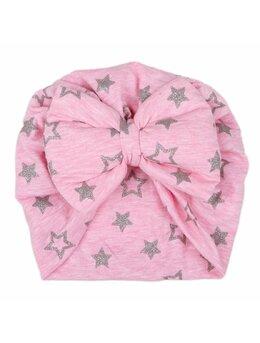 Turban roz cu stele argintii