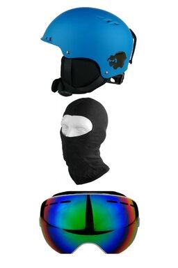 Pachet Blacksheep Matte Blue Furgler C2 (Cască+Ochelari+Cagulă)
