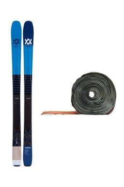 Ski de Tură Volkl 90 Eight Flat 3D Glass Blue + Piei de Focă