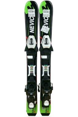 Ski Nevica Vail 4.5 Set In91 Black/Green Jr +Legături Salomon