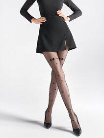 Ciorapi cu buline si fundita Marilyn Natti U11 20 den