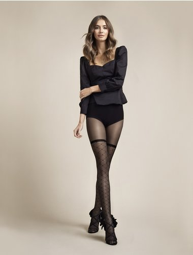 Ciorapi cu model Fiore Patty 20 den