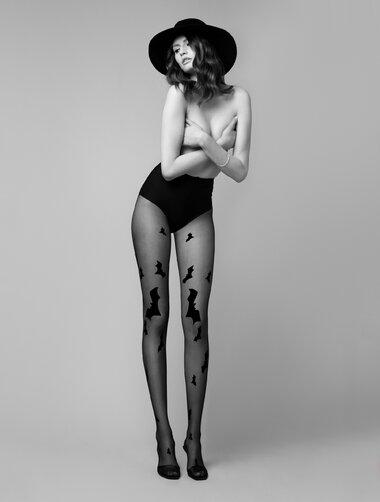 Ciorapi cu model Fiore Hello Gotham 20 den