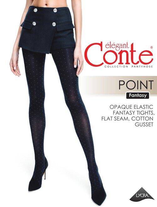Ciorapi cu picatele albe Conte Elegant Point 50 den