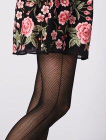 Ciorapi imitatie plasa si dunga laterala Fiore Oprah 30 den