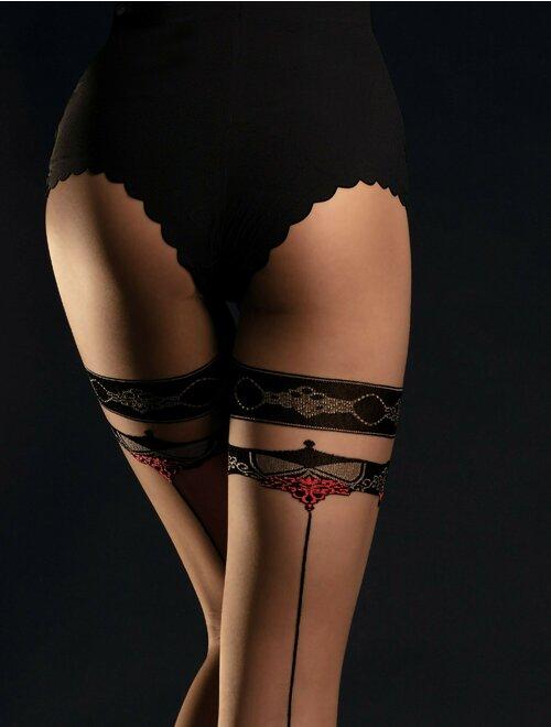 Ciorapi nude cu dunga neagra Fiore Taboo 20 den