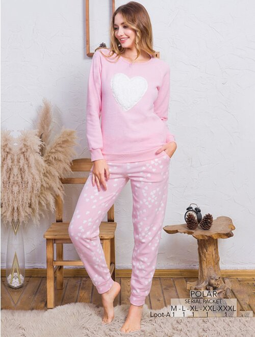 Pijamale moi polar cu model Vienetta 2861
