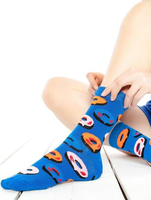 Sosete albastre cu gogosi Socks Concept SC-1678