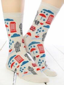 Sosete colorate cu motive din Londra Socks Concept SC-1868