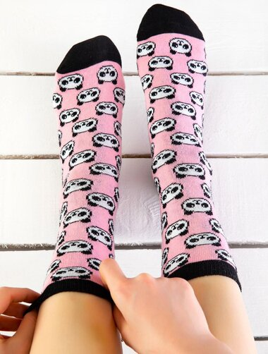 Sosete colorate cu panda Socks Concept SC-1794