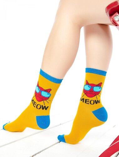 Sosete colorate cu pisica cool Socks Concept SC-1682-2
