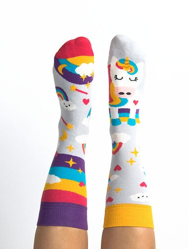 Sosete colorate cu unicorn Nanushki Happy Unicorn