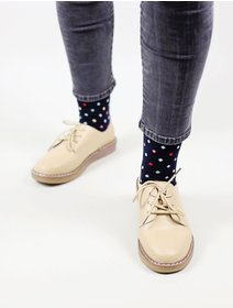 Sosete cu buline colorate The Happy Toe Small Dots Dark Navy