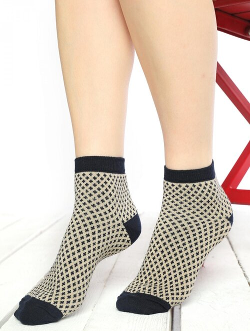 Sosete cu model si fir metalizat Socks Concept SC-1816