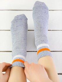 Sosete cu picatele si dungi portocalii Socks Concept 195BRG-1