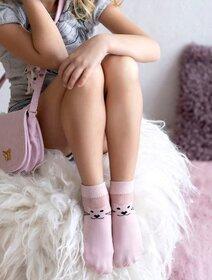 Sosete fete lycra cu model pisica Knittex Xena 40 den