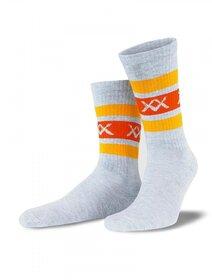 Sosete gri cu dungi orange Socks Concept SC-1705-2