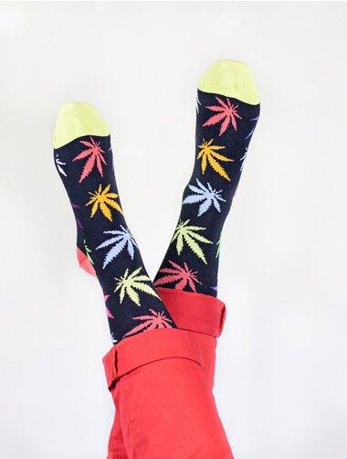Sosete haioase cu frunze colorate The Happy Toe Funky Willow