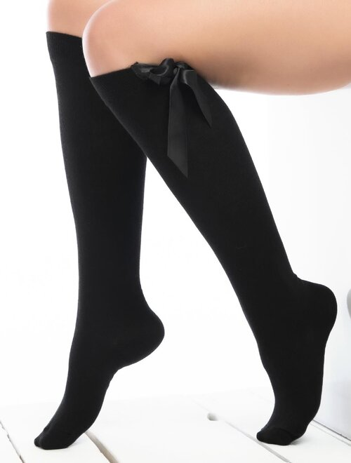 Sosete jambiere cu fundita lungi sub genunchi Socks Concept DZAL-02