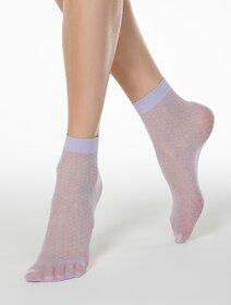 Sosete lycra violet cu picatele marunte Conte Elegant Elegant Thin Dots 20 den