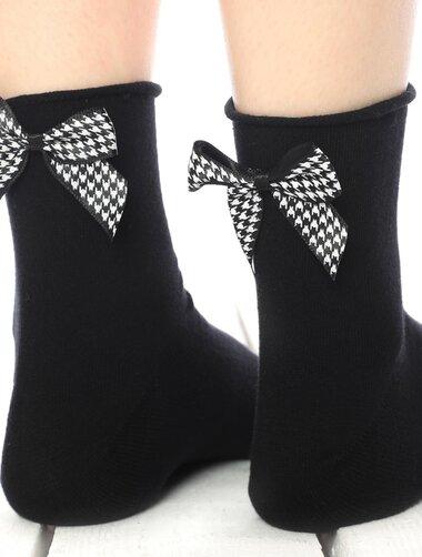 Sosete negre cu fundita Socks Concept SC-1736