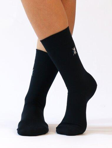 Sosete pantofi din bumbac cu logo romb Wola W94.J01.998