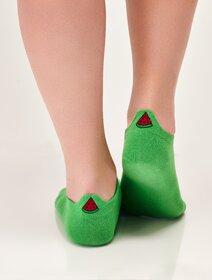 Sosete scurte cu pepene verde brodat Magnetis Melon