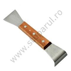 Dalta apicola tip L inox cu maner lemn
