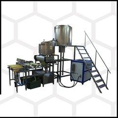 Linie full automat pentru confectionarea fagurilor de ceara prin presare la cald 40kg faguri pe ora