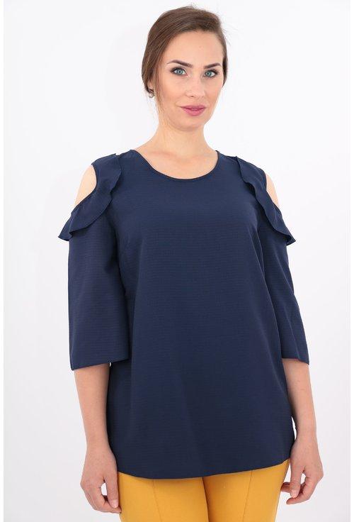 Bluza bleumarin din vascoza