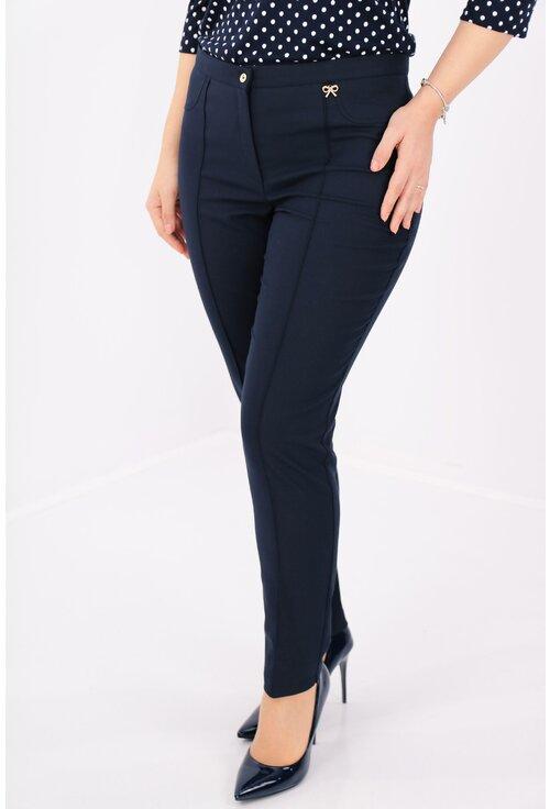 Pantaloni bleumarin din stofa