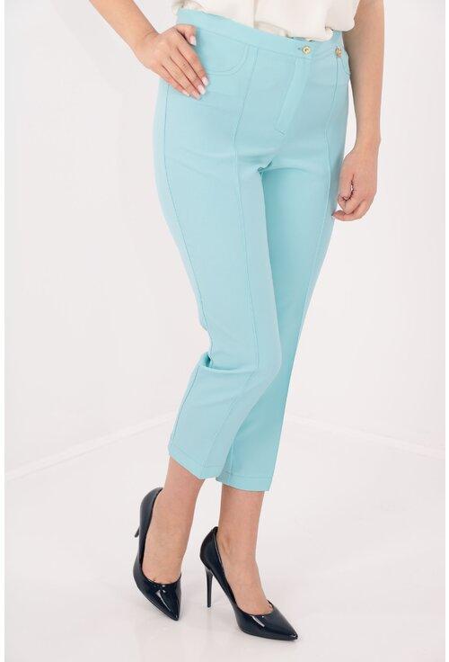 Pantaloni conici 7/8 bleu