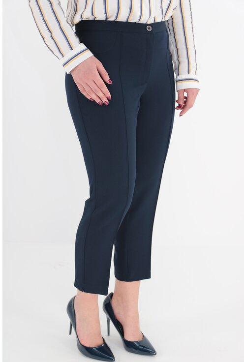 Pantaloni conici 7/8 bleumarin