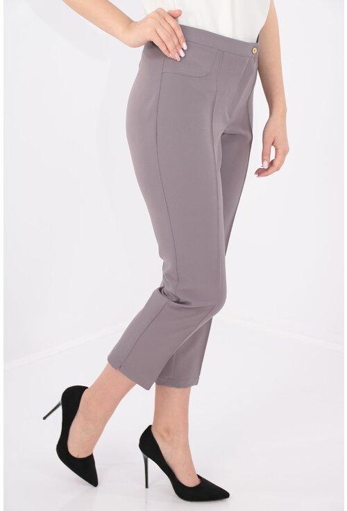 Pantaloni conici 7/8 gri