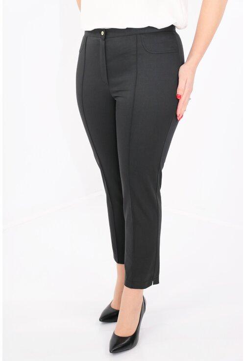Pantaloni conici 7/8 negri