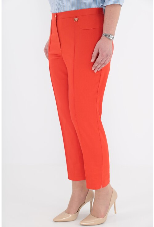 Pantaloni conici 7/8 orange