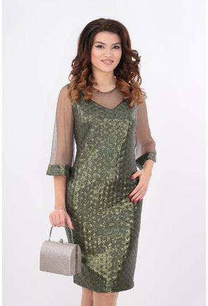 Rochie cu paiete olive