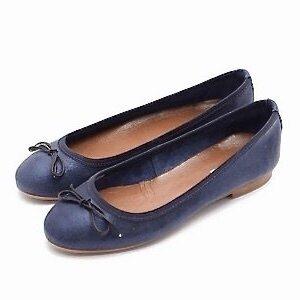 Balerini dama din piele naturala - Tango Blue velur