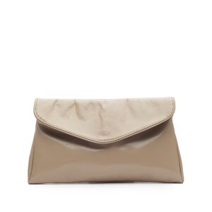Geanta plic din piele naturala -Taupe Box
