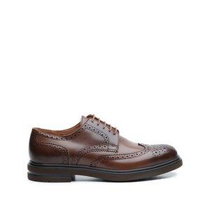Pantofi barbati casual din piele naturala Leofex- 996 Marone Box
