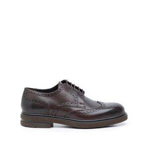 Pantofi barbati casual din piele naturala Leofex- 996 Mogano box