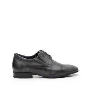 Pantofi barbati din piele naturala, Leofex - 792 negru box periat